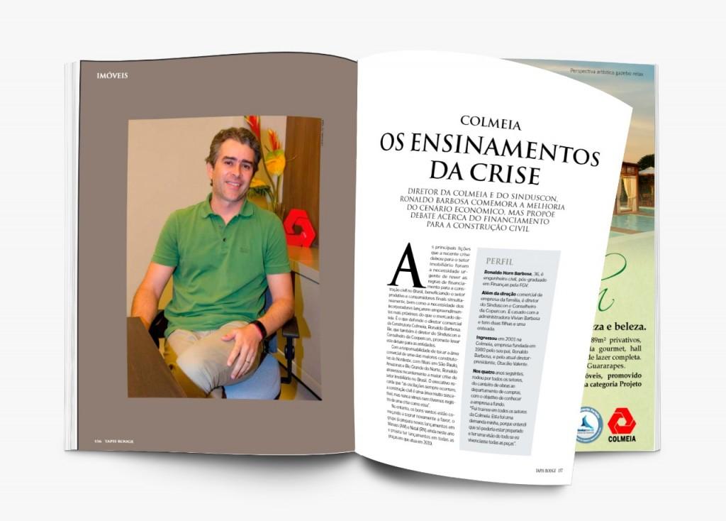 Dr. Ronaldo Barbosa na revista Tapis Rouge.